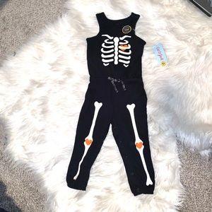 Cat & Jack Black Skeleton Glow in Dark Romper